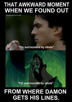 awkward moment, damon salvatore, text, tvd - inspiring picture on Favim.com