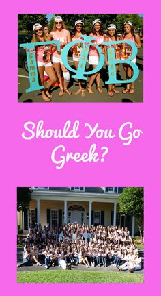 Should You Go Greek?  If so... pick one that will help your studying - not your partying!