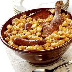 Cassoulet de saucisses et de haricots- Recette de cuisine - Seb