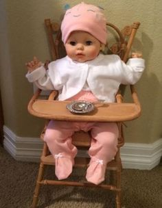 Eegee-Vintage-Baby-Doll-Blonde-Hair-20-034-Long-Good-Condition