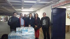Más de 1.000 litros de leche y varios kilos de alimentos para Cáritas del mercado San Francisco
