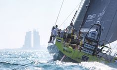 December 13, 2014. Team Brunel, winner of Leg 2 from Cape Town to Abu Dhabi. Francois Nel/Volvo Ocean Race