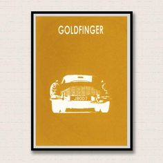 Goldfinger. James Bond Inspired Giclee Print $13