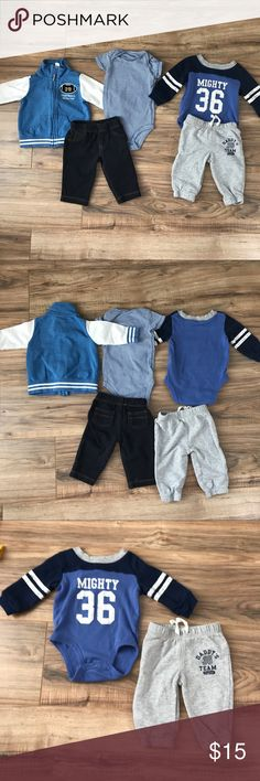 5 piece Carter's set 3 months Bought new and only worn and washed a couple times. EUC. Carter's Matching Sets