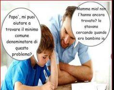 "Avere un papà ""matematico""  ...............................Having a dad ""mathematical"""