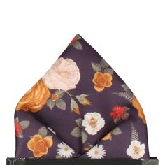 2b53a75e2d4c Abbotts in Dark Plum Pocket Square. Purple Floral Handkerchief & Pocket  Square – Mrs Bow Tie