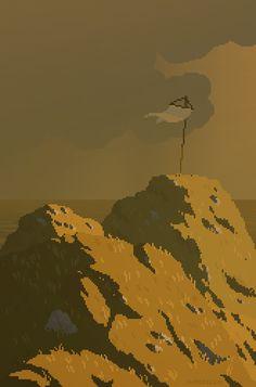WANEELLA pixel art — retronator: Valeriya Sanchillo a. Pixel Art Gif, How To Pixel Art, Pixel Art Games, Animation Pixel, Arte 8 Bits, Pixel Art Background, 8 Bit Art, Animated Gifs, Pix Art