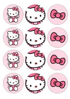 Hello Kitty Crafts, Hello Kitty Themes, Kue Hello Kitty, Hello Kitty Birthday Theme, Images Hello Kitty, Anniversaire Hello Kitty, Hello Kitty Baby Shower, Hello Kitty Imagenes, Hello Kitty Cupcakes