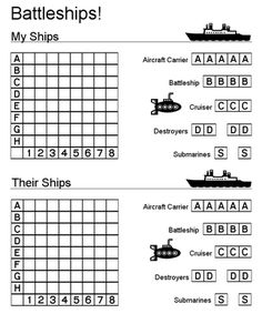 Printable Battleship game (and other printables). Would also be great for long car rides! This looks like good family fun! Road Trip Activities, Road Trip Games, Activities For Kids, Road Trips, Paper Games For Kids, History Activities, Car Ride Games, Math Games, Games To Play