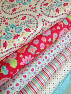 Flutter berries fabric bundle by Riley Blake and Fabric Shoppe- Fat quarter bundle of 6 by fabricshoppe on Etsy