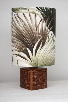 poole pottery retro lamp
