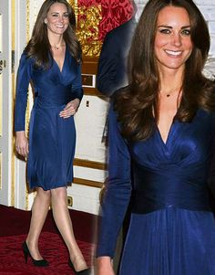 Kate Middleton & the Navy Blue Dress - I must admit that I, too, love it!