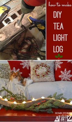 Best DIY Projects: I use my log tealight year round. So easy to make. Click for tutorial. How to make DIY tea light log.