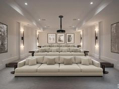 Home theaters design 7205 Arrowood Rd, Bethesda, MD 20817 Home Theater Room Design, Movie Theater Rooms, Home Cinema Room, Home Theater Seating, Luxury Movie Theater, Theater Seats, Dream Home Design, House Design, Luxury Homes Dream Houses