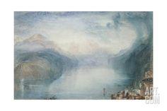 Lake Lucerne: the Bay of Uri Giclee Print by J. M. W. Turner at Art.com