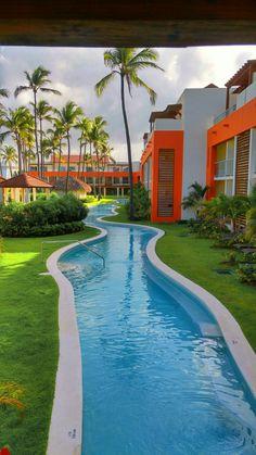 Lazy River Swimming Pool At Breathless Punta Cana