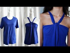 DIY Summer Top (no sew) tutorial - YouTube