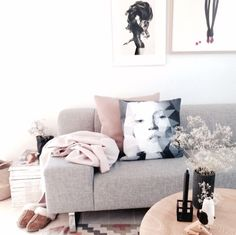 Soft pastel interior ! This is more of a eclectic style to me or minimalistic! But this is lovely!