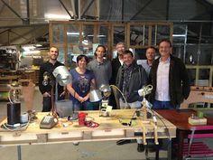 Atelier de création de luminaires récup à La Nouvelle Mine.