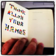 think with your hands... moleskine lego edition