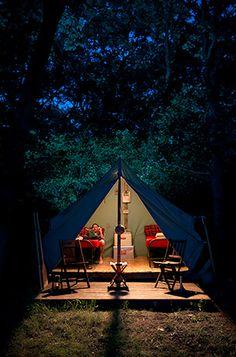Boy Scouts of America platform tents - Camp Wandawega, Wis