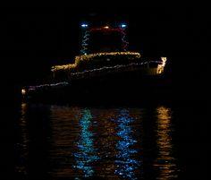 Xmas Boat Parade 2012 by flythebirdpath~}~}~}, via Flickr