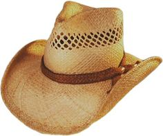 Vented Shady Brady Crushable Straw Hat with Jute Band