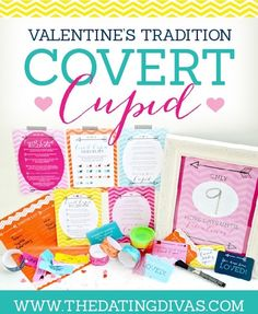 Covert Cupid with printables, what a cute idea!!!