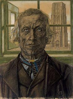 Jean Theodoor Toorop – Godsvertrouwen 1907 Pencil and crayon on paper 56 x 42 cm Piet Mondrian, Painter Artist, Fauvism, Dutch Painters, Dom, Impressionist, Art Nouveau, Symbols, Portrait