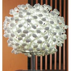 Macramed Silk Cocoon Table Lamp from Wordly Decor.