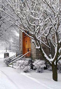 Beautiful Church in Winter
