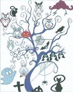 Alessandra Adelaide Needleworks - The Grand Council Of Halloween Cross Stitch Pattern - 123Stitch.com