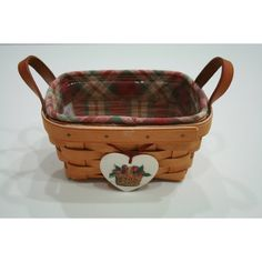 Longaberger Vintage Basket by BeAnnsAttic on Etsy ($47) ❤ liked on Polyvore featuring home, home decor and small item storage