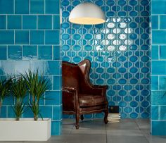 Something about this shade of blue has always mesmerized me. It makes me think of ancient bodies of water...Academy Tiles | Mosaic Ceramic Glass Porcelain Stone