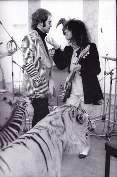 Elton John and Marc Bolan of T-Rex youtubemusicsucks.com #marcbolan #trex
