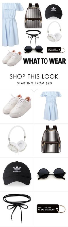 """""""NYC: Street Style"""" by mvarun74 ❤ liked on Polyvore featuring Miss Selfridge, Frends, Henri Bendel, adidas and Various Projects"""