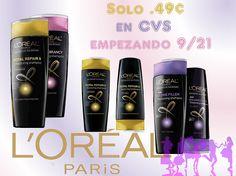 Shampoo LOreal a solo $0.49 en CVS empezando 9/21!