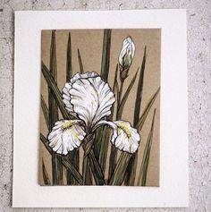 "82 Likes, 2 Comments - Illustration Ceramic Hand-made (@yshkoffa) on Instagram: ""#цветы #ирис #dailyart #watercolor #белый #рисунок #набросок #illustrations  #flowers #white #love…"""
