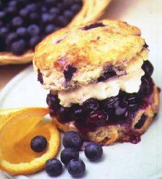 Double Blueberry Breakfast Scones with Crème Fraîche