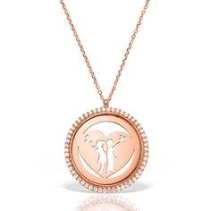 Colier argint Roz cu pietre 42 cm Indragostiti | Heart - MCN0037 Gold Necklace, Jewelry, Gold Pendant Necklace, Jewlery, Jewerly, Schmuck, Jewels, Jewelery, Fine Jewelry