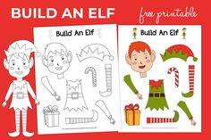 Build-an-Elf_free-printable-for-kids_christmas-activity_product Christmas Activities For Kids, Christmas Printables, An Elf, Christmas Elf, Christmas Ideas, Free Printables, Christmas Decorations, Merry, Coloring