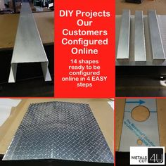#metal #configuration online in 4 easy steps. Ideal for all #DIY enthusiasts #homerepair and #renovation projects #craftsman #handyman #maintenance @metalscut4u.com