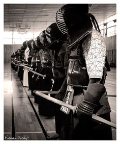 ♂ Japanese martial art Kendo black & white photography