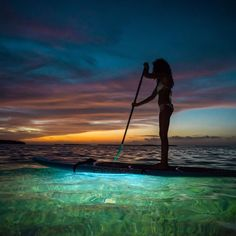 Incredible shot of SUP lights from our friends @nocqua  Check out their gallery for more Nighttime Stand up Paddle goodness   #nocqua #stand_up_paddle #standup #SUPlife #nightsup #nightpaddle #lighttheway #sup #adventure #sunset