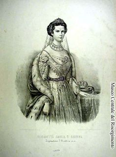 The young Empress of Austria, 1854