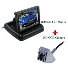 "4.3"" plastic shell car rearview monitor with high resolution+colorful night vision car back up camera 4 ir fit for types of cars"