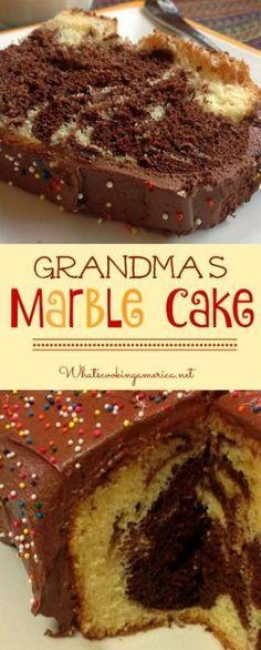 Grandma's German Marble Cake Recipe | whatscookingamerica.net | #marble #cake