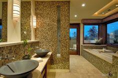 100 лучших идей: мозаика в ванной комнате на фото