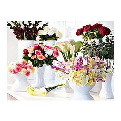 SMYCKA Artificial flowers - IKEA (Roses, Gerberas, Amaryllis, Dahlias, Geraniums, Lilies, Orchids, Gladiolus, and Clematis)