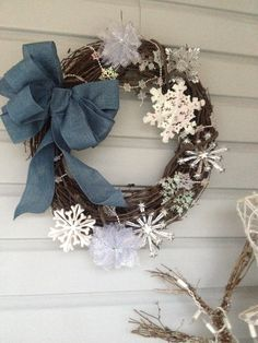 Snowflake Wreath for January :)